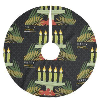black happy kwanzaa christmas tree skirt - Xmas ChristmasEve Christmas Eve Christmas merry xmas family kids gifts holidays Santa