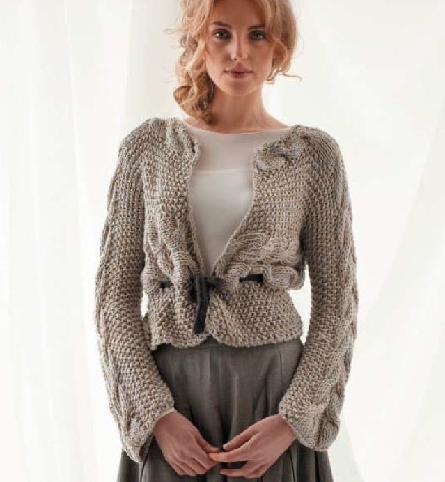 Side to Side Cable Cardigan, Jo Sharp Knit Issue 8