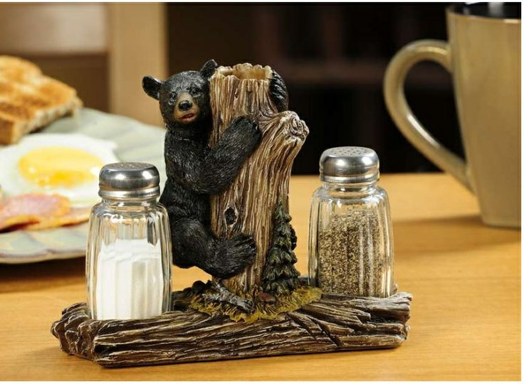 Bear Kitchen Decor | ... Bear Salt U0026 Pepper Shaker Set Lodge Kitchen Rustic