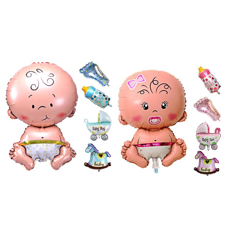 5Pcs Baby Beauty Shower Foil Balloon Baby Shower Boys Girls Holiday Decorations Foil Balloons Stroller Blue(boy)  Pink(girl) #>=#>=#>=#>=#> Click on the pin to check out discount price, color, size, shipping, etc. Save and like it!