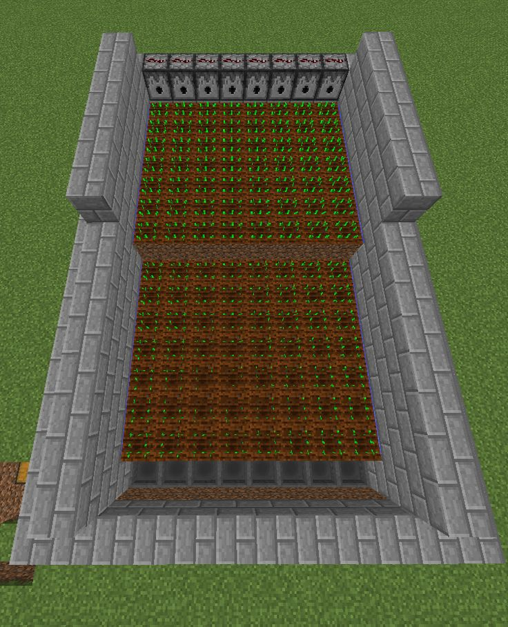 This semi-automatic farm makes harvesting crops in Minecraft a breeze!