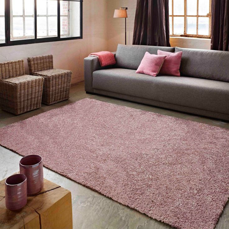 tapis 100 polypropyl ne heatset fris uni rose rose. Black Bedroom Furniture Sets. Home Design Ideas
