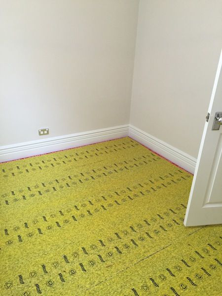 """10 Ways to Make an Old Room New Again"" #8 Install new carpet... this is the underlay, not the carpet:)"