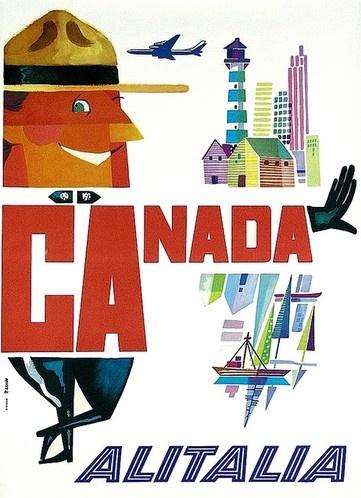 #vintage Canada - Alitalia poster