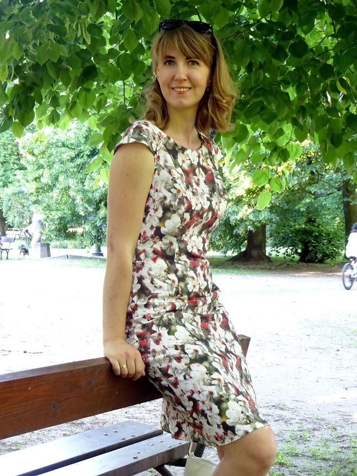Letnia sukienka, Burda 3/2009 model 107; summer dress