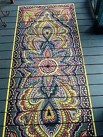 Bohemian painted deck