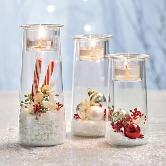 So versatile! Decorate this trio for ANY season including Christmas, Halloween, 4th of July, Valentines, ST Patricks Day, Back To School, Easter, Spring! #candles #centerpiece