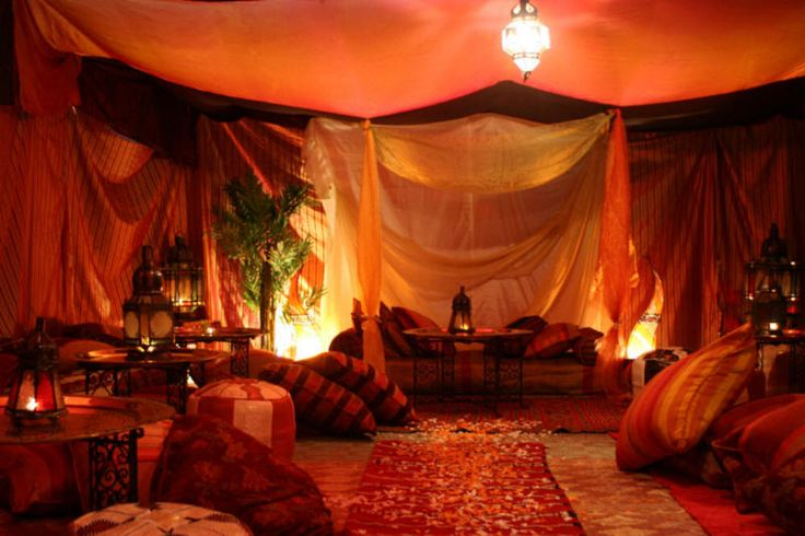 Inside of a bedouin tent african civilizations and the for Arabian tent decoration