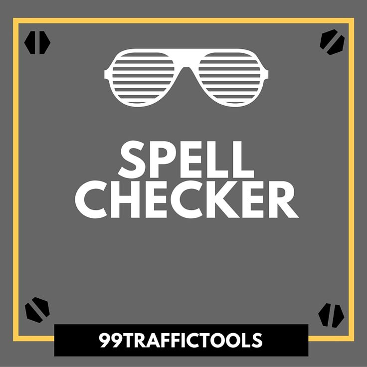 The Spell Checker tool lets you check the spelling of a piece of content online, for free. It is similar to the Spell Check feature present in text-editing software installed in computers such as Microsoft Word. Checking content for spelling errors is vital to the quality quotient of your website.