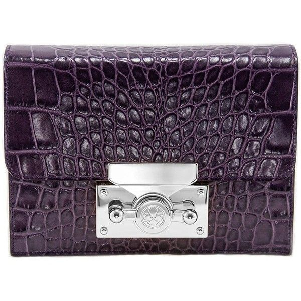 Subella London - Saya Plum Croc With Silver Lock ($685) ❤ liked on Polyvore featuring bags, handbags, shoulder bags, silver crossbody, silver shoulder bag, purple purse, purple cross body purse and shoulder strap purses