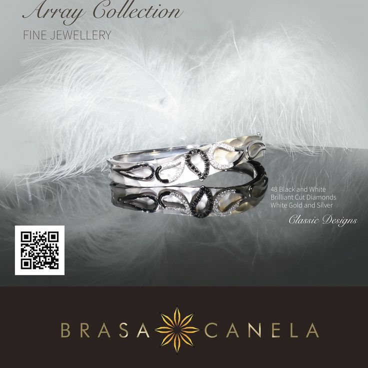 Array Bracelet - white gold, black and white diamonds.  Statement Bangles are key pieces this season and definitely should be worn during the Christmas Season.  The contrast of black and white will make your moment even more remarkable. Black to Make the Statement & White to Shine over the Gold and Give the Unique Look you Ever Wanted from a Real Jewellery, exclusive as you are! — in Zürich, Switzerland. #BCDecemberFavourites #BCMasterPieces #BRASACANELA