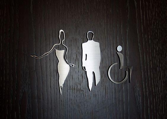 396 best wayfinding and signage - restroom images on pinterest