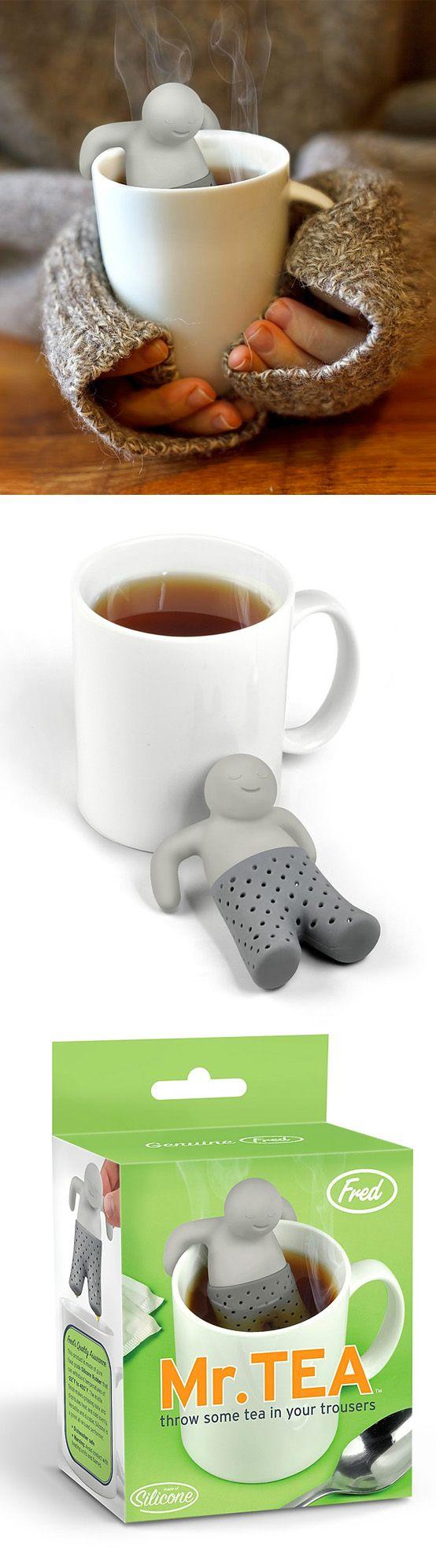 Nos encanta este infusor Mr. Tea, es super original! - Mr. Tea's cool tea bag    #Regalos #Frikis #Tea #Bag #Infusor #Te #Greek #Gifts