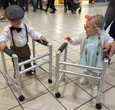 Kids  PVC pipe walker. Cute idea for Halloween
