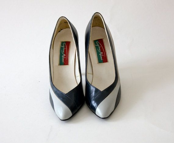 Vintage Gino Nicci Blue and White High Heels
