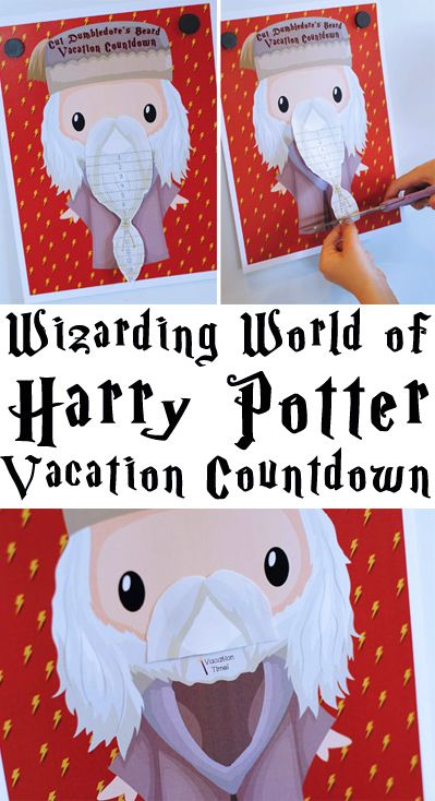 Free Printable - Cut Dumbledore's Beard Until Your Vacation