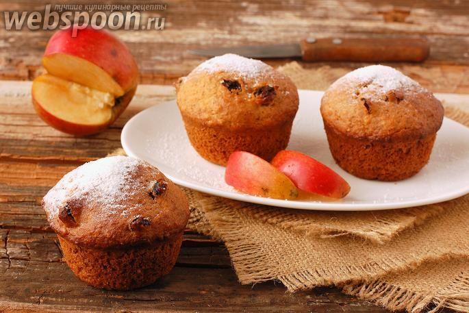 постные яблочные кексики