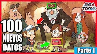 100 [NUEVAS] Curiosidades Sobre Gravity Falls - (Parte 1 ) - JEGA Toons - YouTube