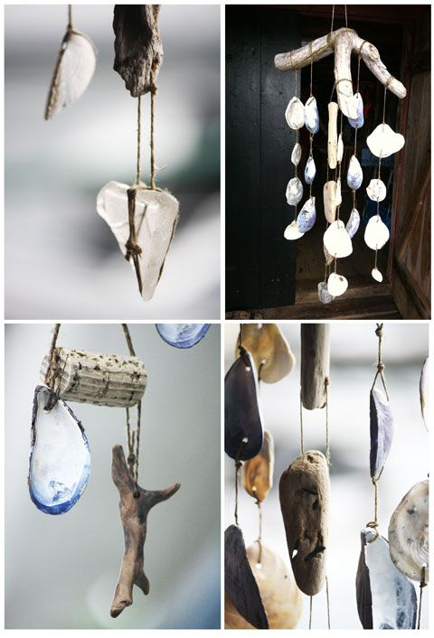 Make some Sea glass, driftwood + beach finds mobile
