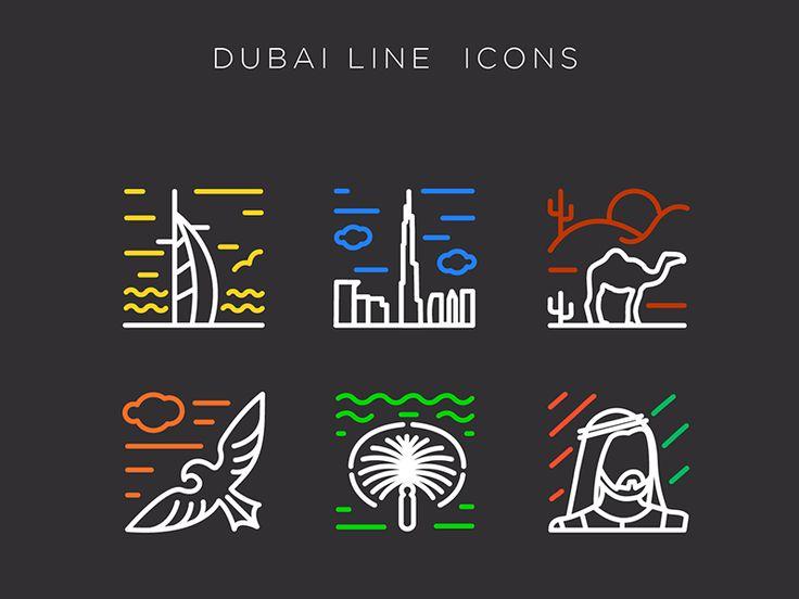 Dubai Line Icon