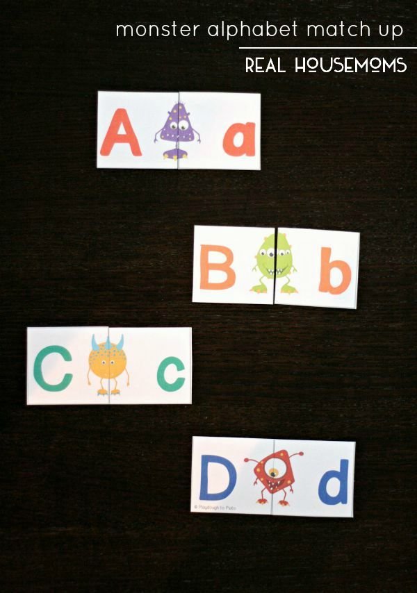 FREE Monster Alphabet Match Up. These are so adorable!! What a fun ABC game for kids.