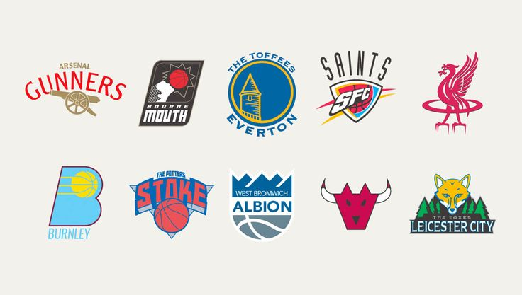 Premier League Badges Blended with NBA teams by Liam Heath