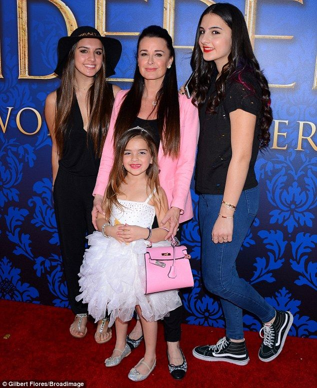 Pretty princesses: Kyle Richards, top middle, and her daughters Portia, bottom middle, Sop...