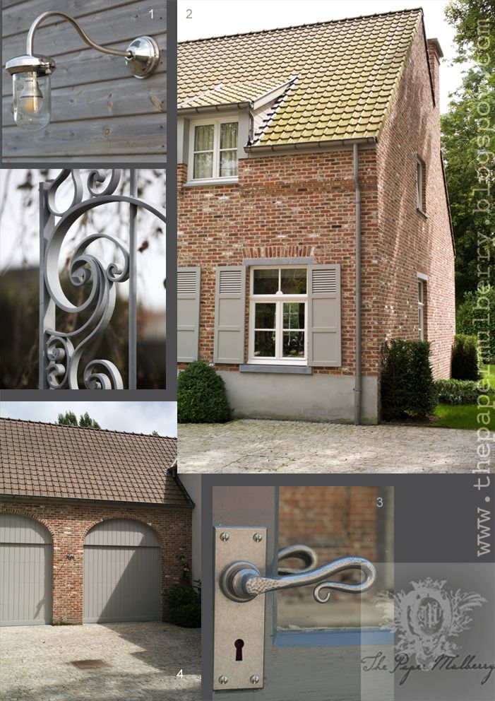 French Grey exterior paint shades and contemporary country door fittings - The Paper Mulberry: Exterior Paint Shades - Part 2