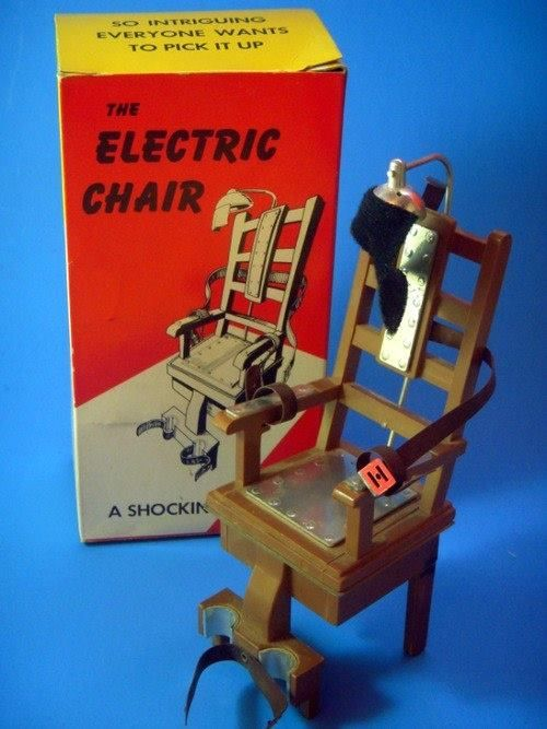 everthang:  Vintage Electric Chair toy. Made by Poynter circa...