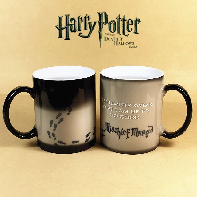 Harry Potter Mugs Color Changing Footprint Cup Mischief Managed Magic Coffee mug Cups for friend gift-in Mugs from Home & Garden on Aliexpress.com | Alibaba Group