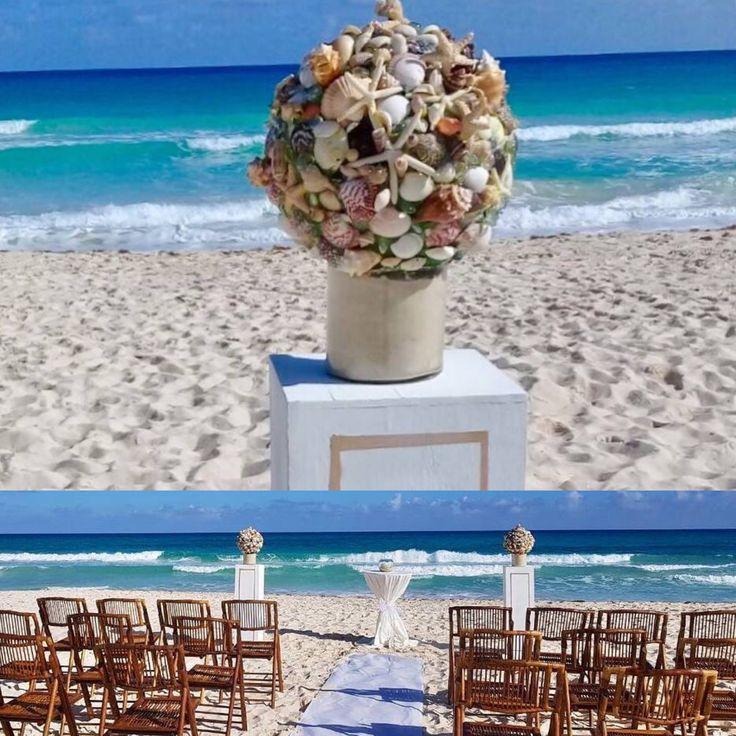 CBD233 wedding Riviera Maya sea shells decoration for aisle/ decoración con conchas de Mar para camino de ceremonia