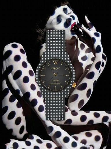 Orologio wynntime ultima uscita della moda orologi! Cinturino soft a bianco e nero