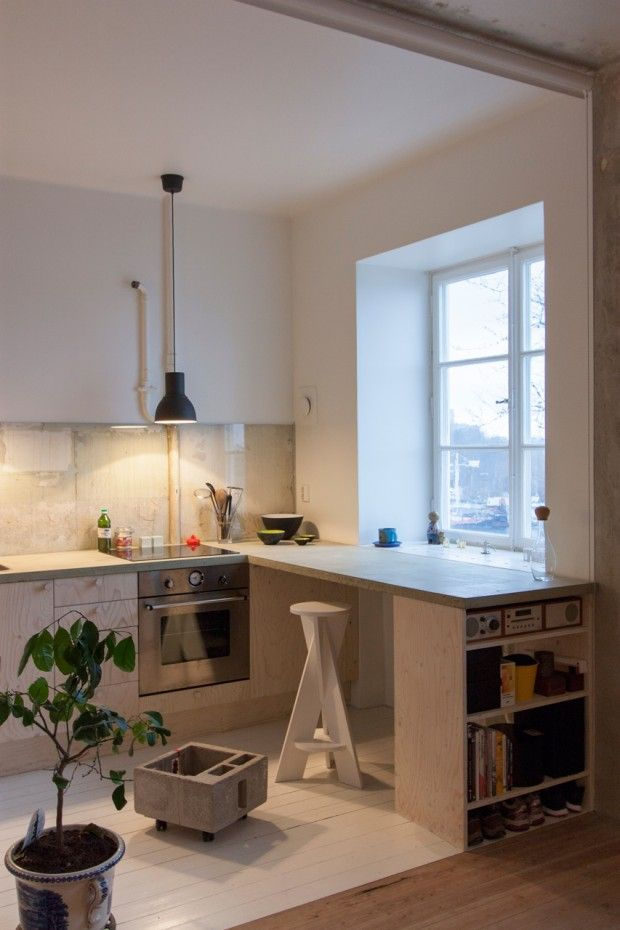 HB6B de Karin Matz Arkitek Appartement 36m2 à Stockholm (ancienne friche)