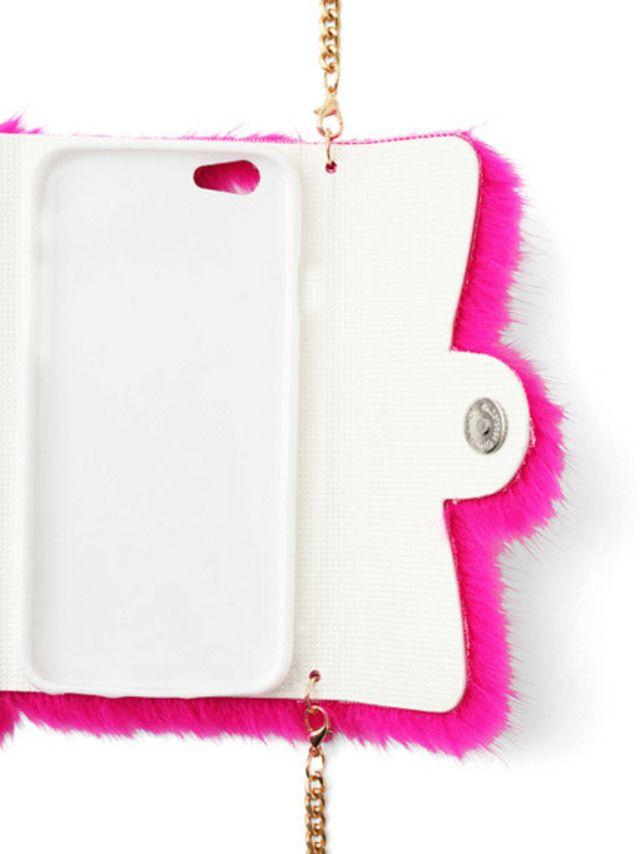 【ファー手帳モバイルケースiphone6】ふわふわとしたカラフルなファーに包まれた手帳型iPhone6ケ…