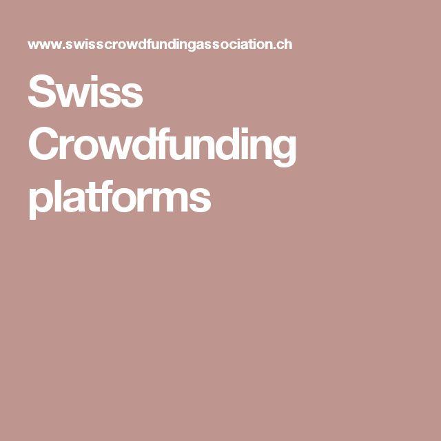 Swiss Crowdfunding platforms