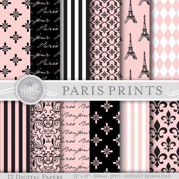 48 best parisian themed party images on pinterest paris for Themed printer paper