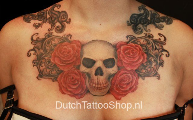roos tattoo voorbeelden | Dutch Tattoo Shop Voorschoten -Tattoos by Liza- Ook Eigen Ontwerp ...