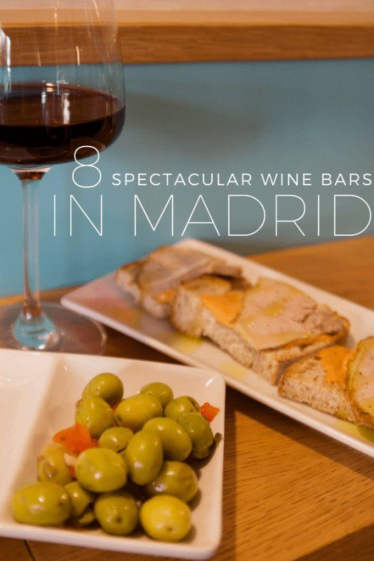 Drink Up at Our 8 Favorite Wine Bars in Madrid We love wine! We've narrowed down our 8 favorite wine bars in Madrid for the perfect evening out on the town. #wine #winebars #bar #madrid