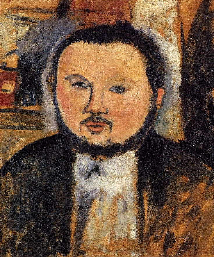jes68:  Amedeo Modigliani (1884-1920), Portrait de Diego Rivera, 1914.