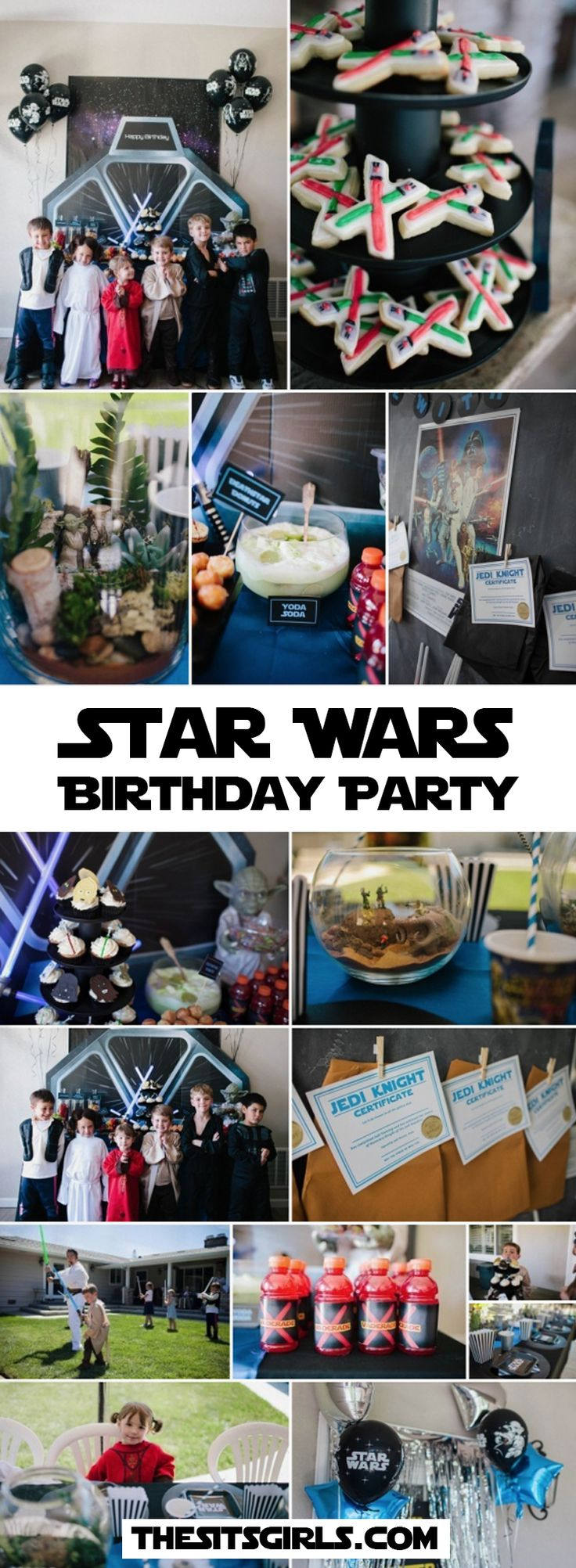 Star Wars Birthday Party Ideas   A Star Wars party is the perfect kids birthday party. Click through for inspiration and great tips to plan the perfect party for your favorite Jedi! May the force be with you.