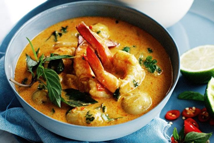 Prawn and potato curry