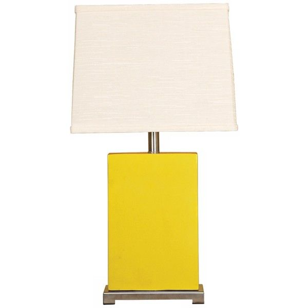 splash collection mimosa ceramic rectangular table lamp 248 liked on polyvore featuring home