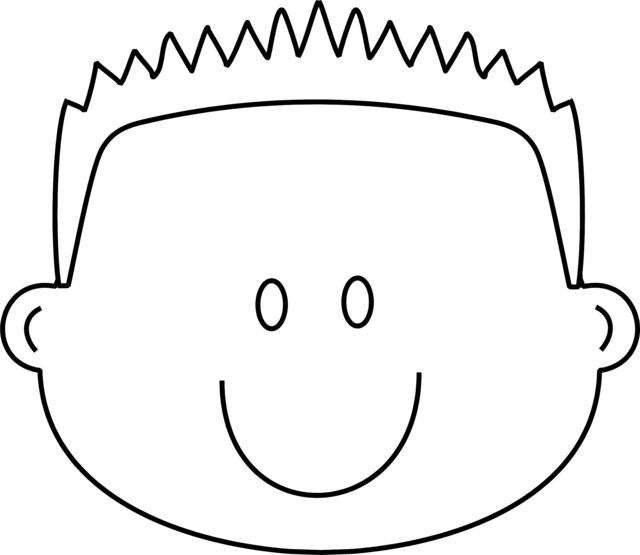 boy hair coloring pages - photo#1