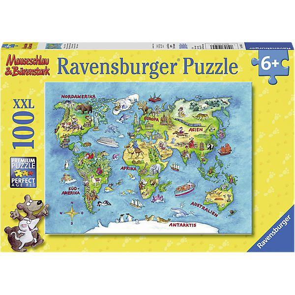 Puzzle Mauseschlau&Bärenstark: Reise um die Welt 100 Teile von Ravensburger