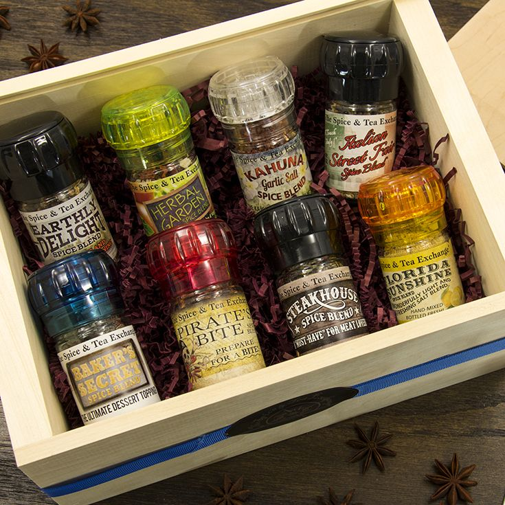 Season Up Deluxe Crate - Spice Deluxe Crates make a great gift for foodies for the holidays, as a corporate gift, as a wedding favor, for events, and more. Quantity pricing available.