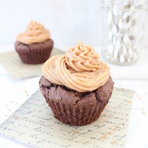 Gluten Free Peanut Butter Chocolate Cupcakes