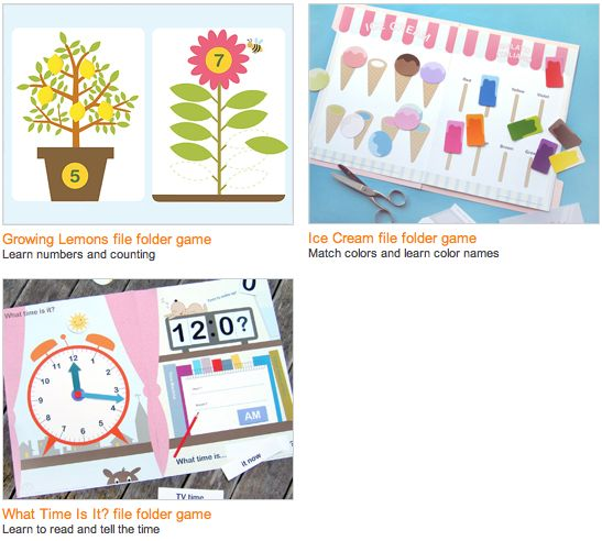 Free printable file folder games from Mr. Printables @A Golden Afternoon {blog}  stuff for school for Faith?