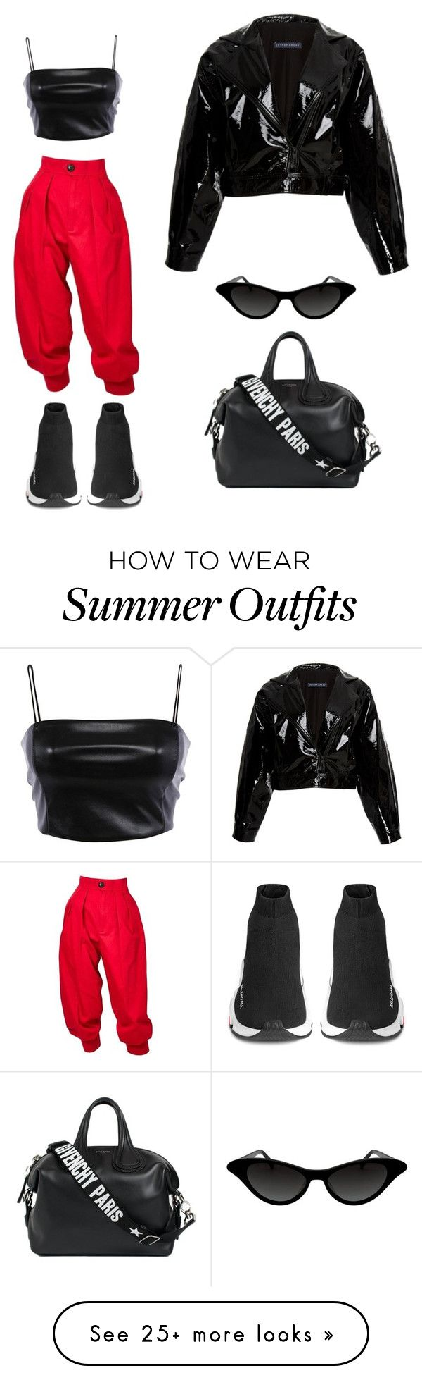 """""""NY Streetstyle"""" by izzieluxe on Polyvore featuring Givenchy, Balenciaga, Yves Saint Laurent, Zeynep Arçay and allblackoutfit"""