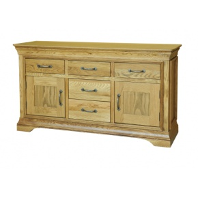 Solid Oak - FRDB46 Lyon Oak 4FT 6IN Dresser Base / Sideboard  www.easyfurn.co.uk