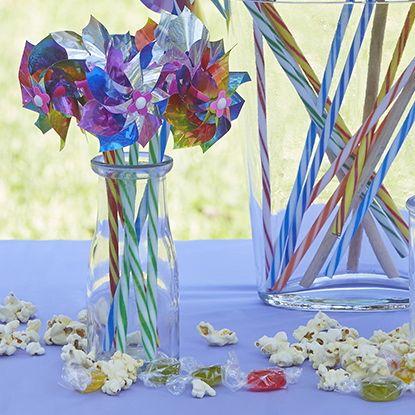 Daisy Windmills/Pinwheels #whirlywindmills #daisy #colour #rainbow #party